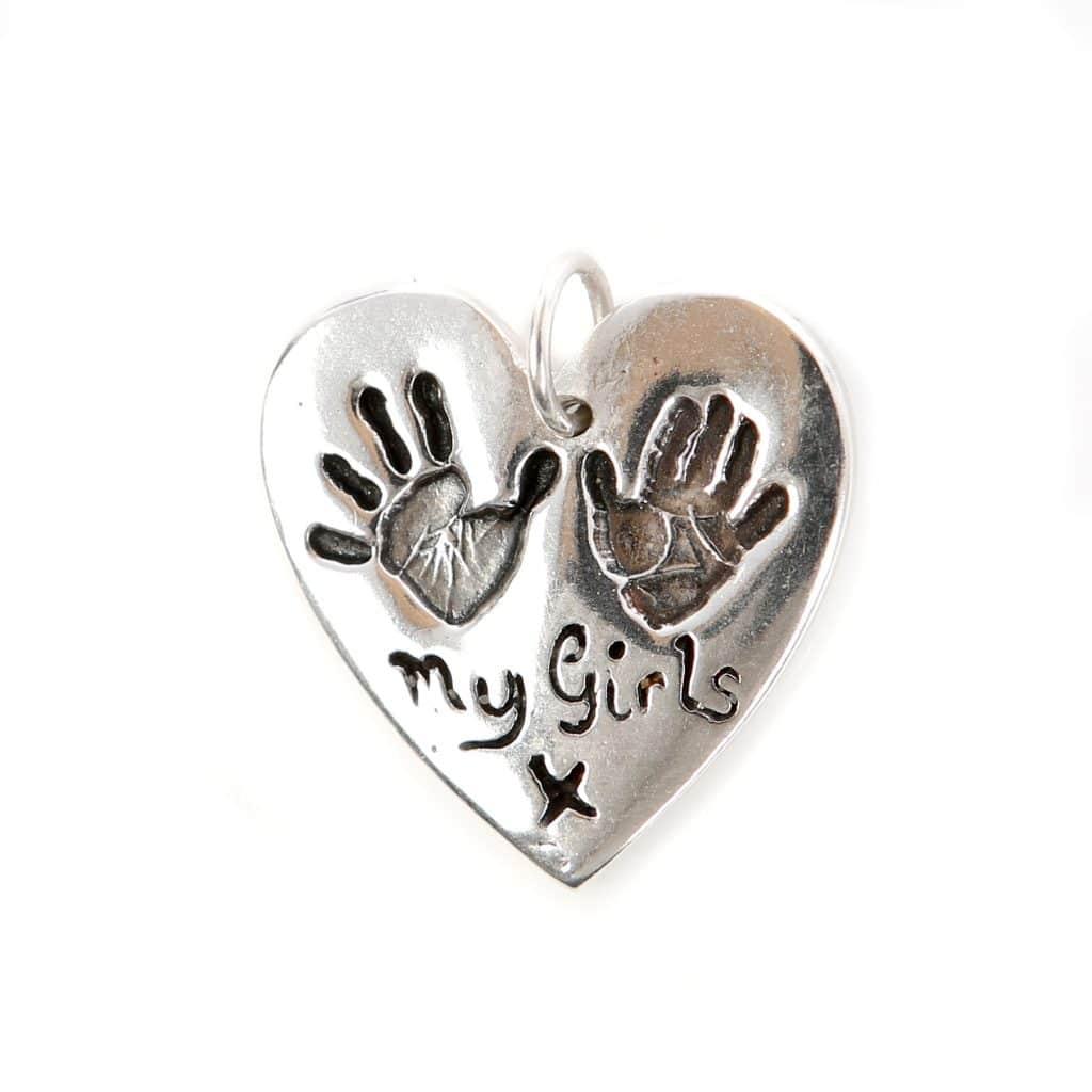 Silver Heart Fingerprint Jewellery