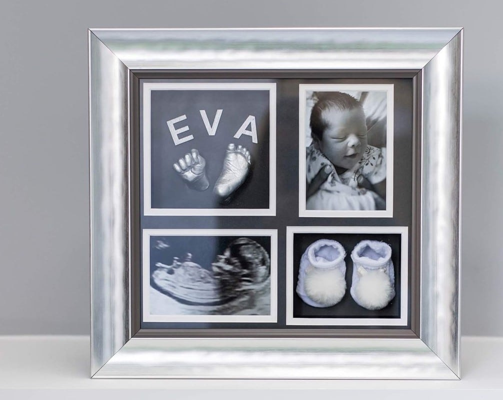 3d baby hand and foot cast with booties, scan and photograph