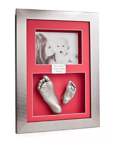 silver or gold frame with sibling 3D Casts and photograph