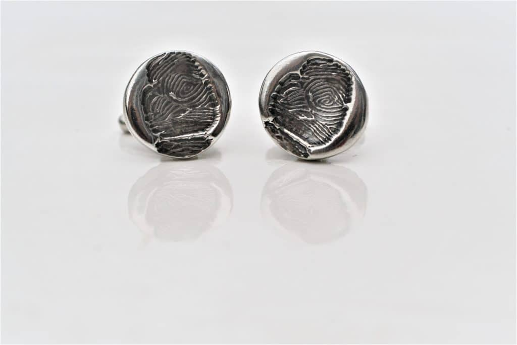 silver fingerprint jewellery cufflinks rest in peace