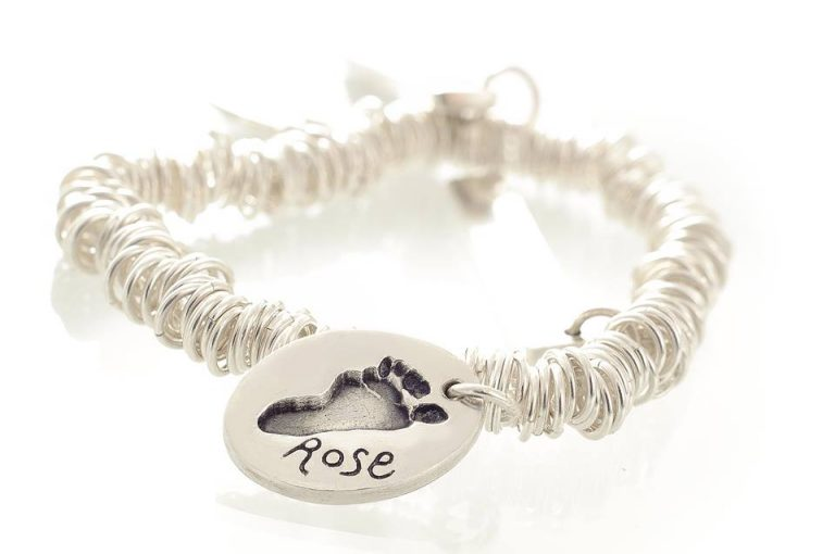silver hand and footprint charms