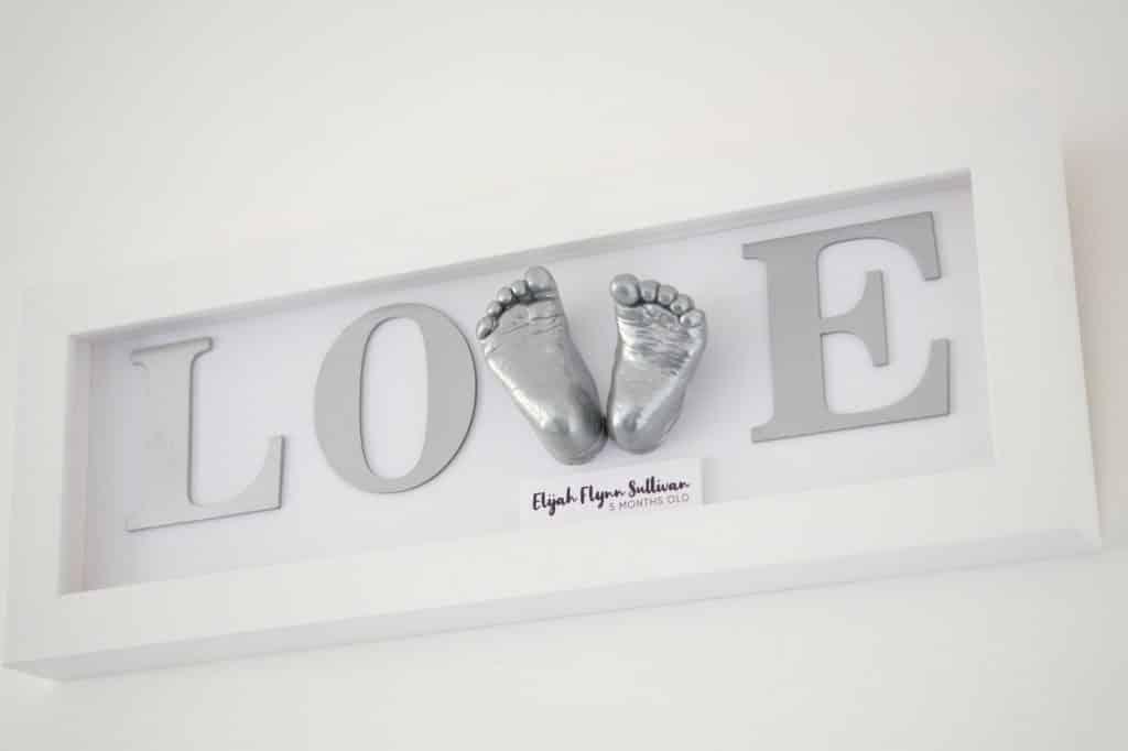 love sign 3d cast baby feet white frame poole dorset