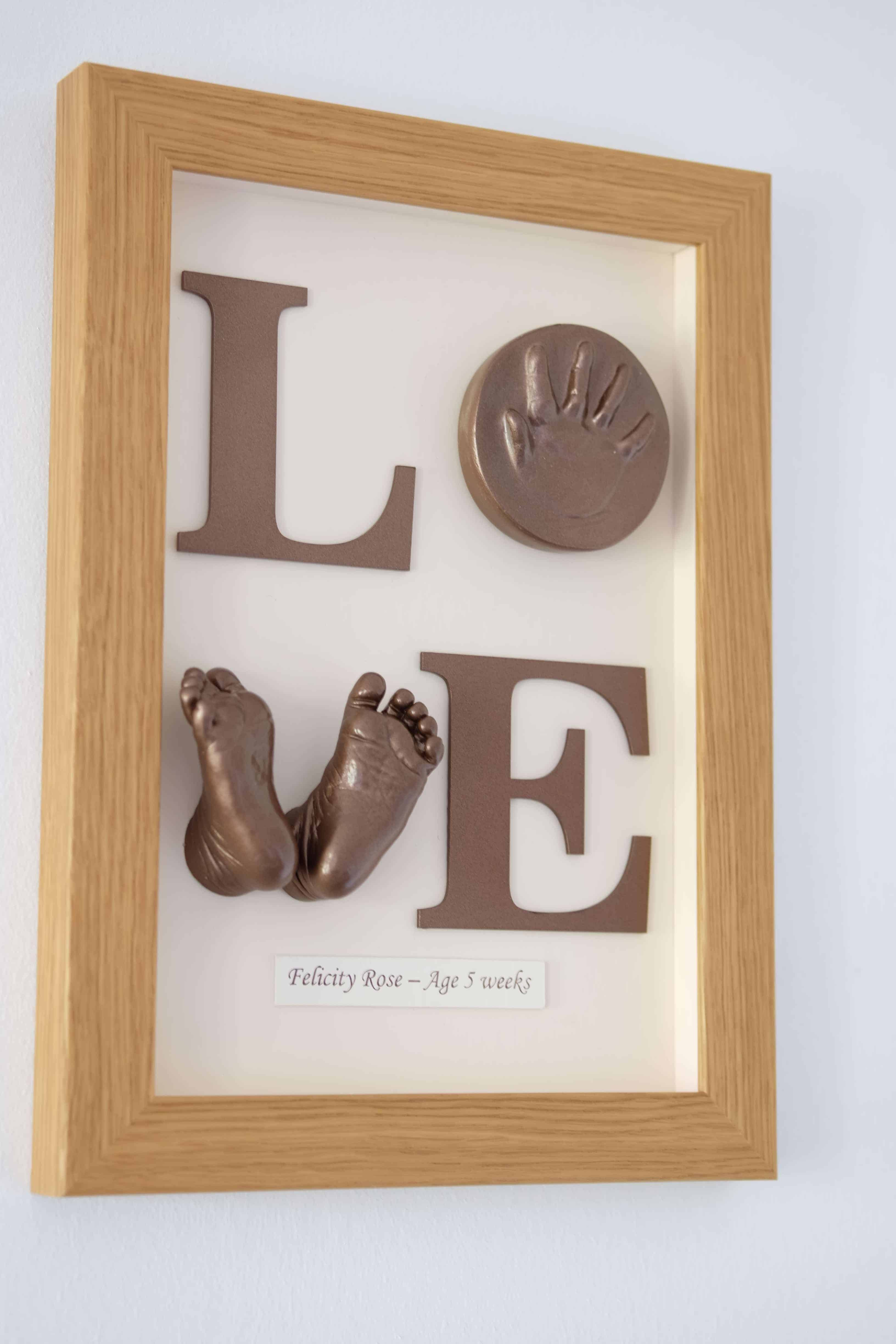 3d baby feet love sign frame times to treasure poole