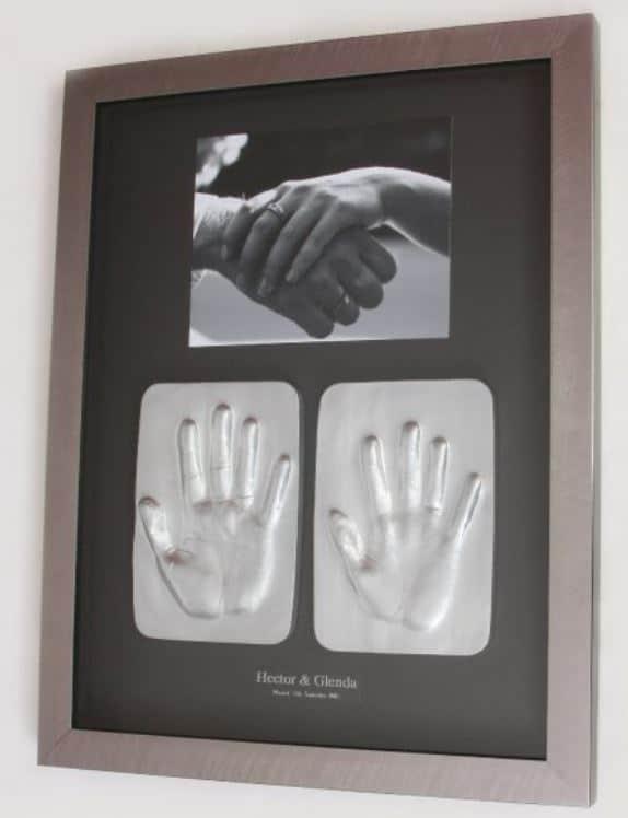 2D Tile of Bride and Groom Framed wedding gift