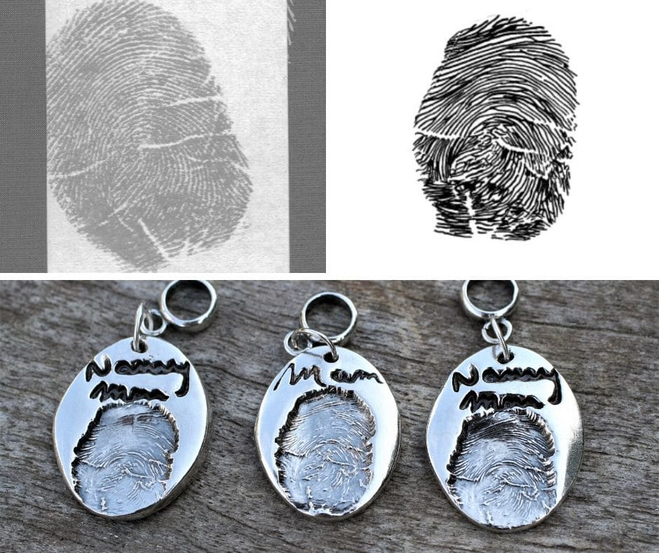 fingerprint using inkless wipe kit