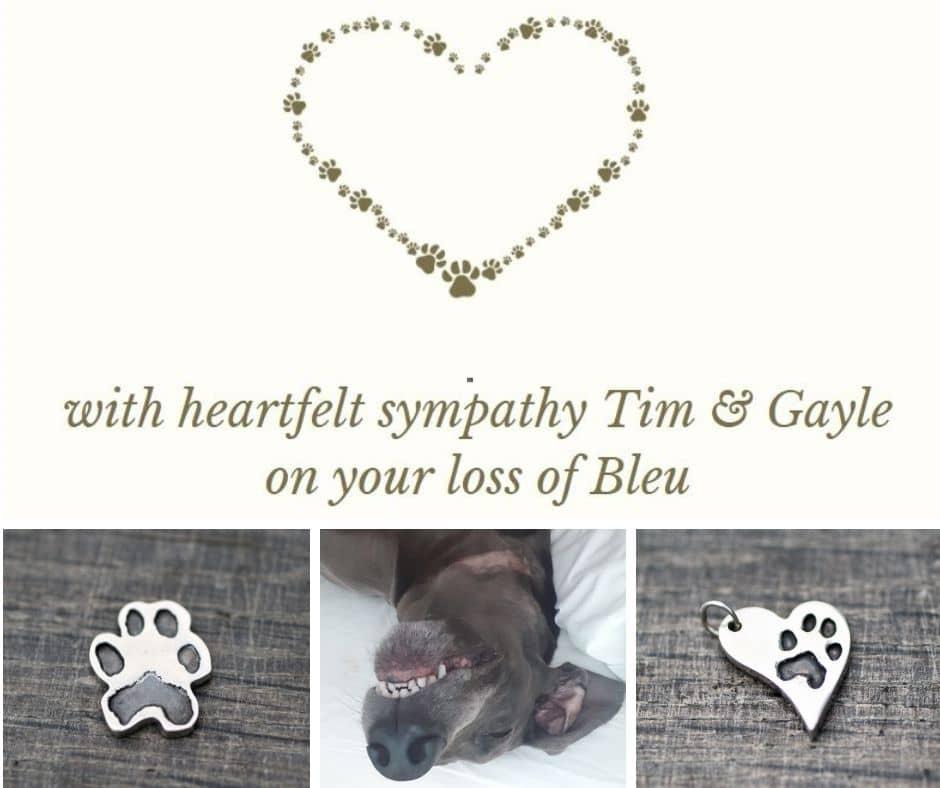Losing a pet bronze dogpaw casting