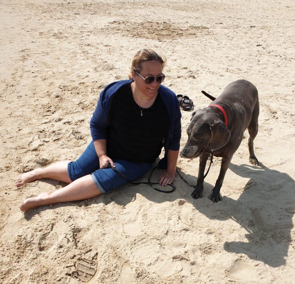 Losing a pet dog keepsake sandbanks beach dorset