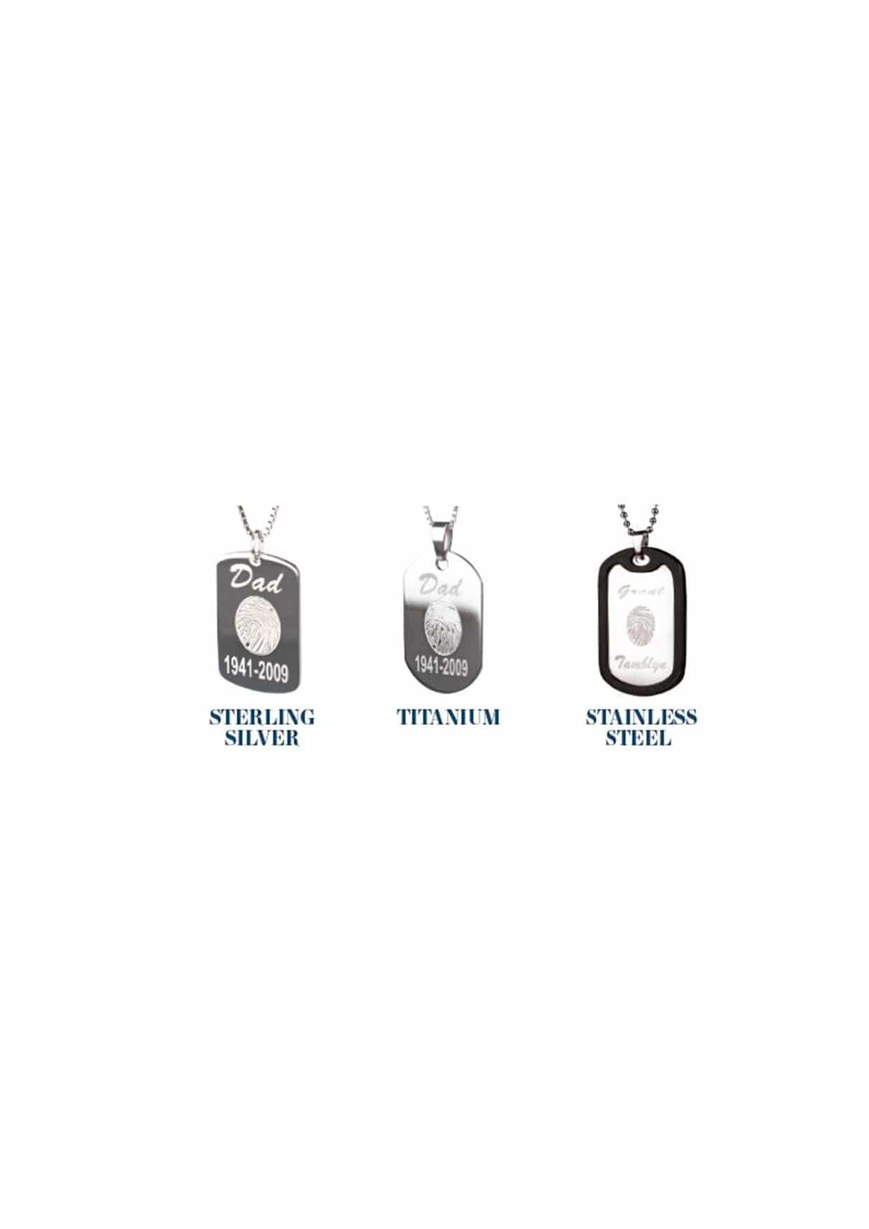 personalised memorial jewellery dog tags