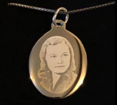 photos on jewellery silver heart from precious memories pendant rest in peace