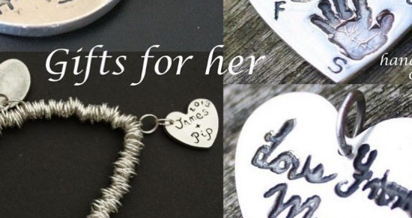 Silver fingerprint jewellery gift for mothers day in Dorset