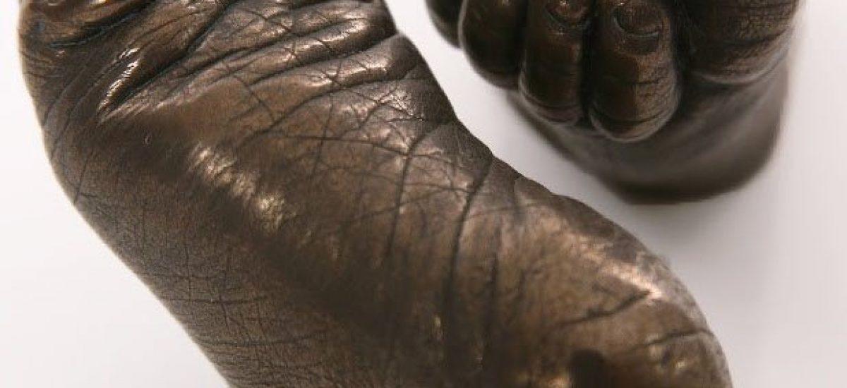 3D Baby Feet Bronze Casts