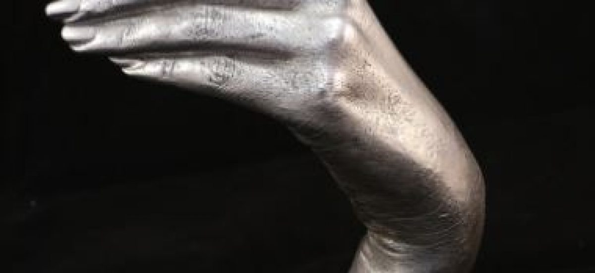 sterling silver 3d handcast of Libs who died of cancer